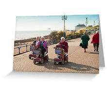 Silver Haired Racers Greeting Card