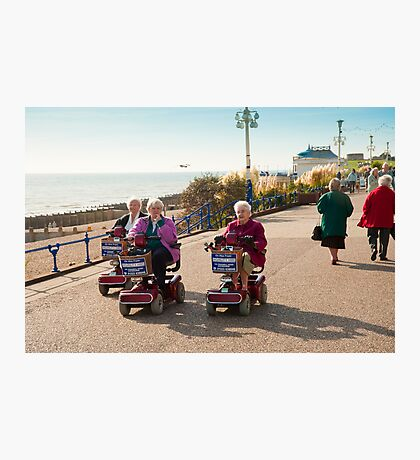 Silver Haired Racers Photographic Print