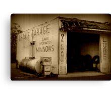 Leak's Garage Canvas Print
