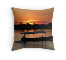 Flores Sunset-Belize,Central America Throw Pillow