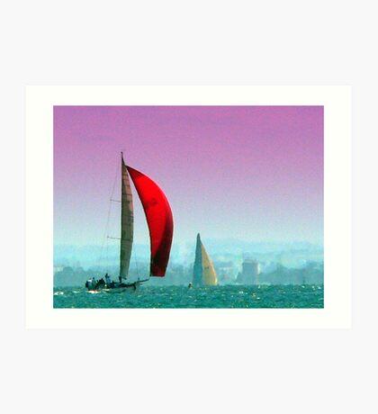 Painted Sailing Ship-Port Philip Bay,Australia Art Print