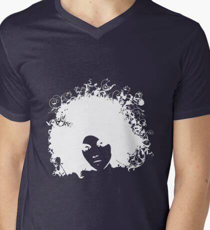 Forest white Mens V-Neck T-Shirt