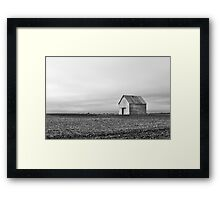 Barn and Field B&W Framed Print