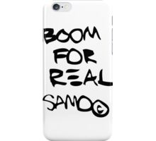 Boom For Real BLK iPhone Case/Skin