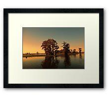 Louisiana bayou at sunset Framed Print