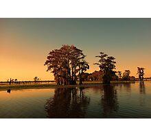 Louisiana bayou at sunset Photographic Print