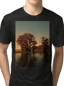 Louisiana bayou at sunset Tri-blend T-Shirt