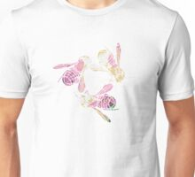 Bees and Blooms IV: Watercolor illustrated honeybee & flower print Unisex T-Shirt