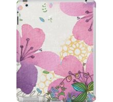 Bees and Blooms IV: Watercolor illustrated honeybee & flower print iPad Case/Skin