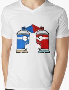 Spraycan War Mens V-Neck T-Shirt