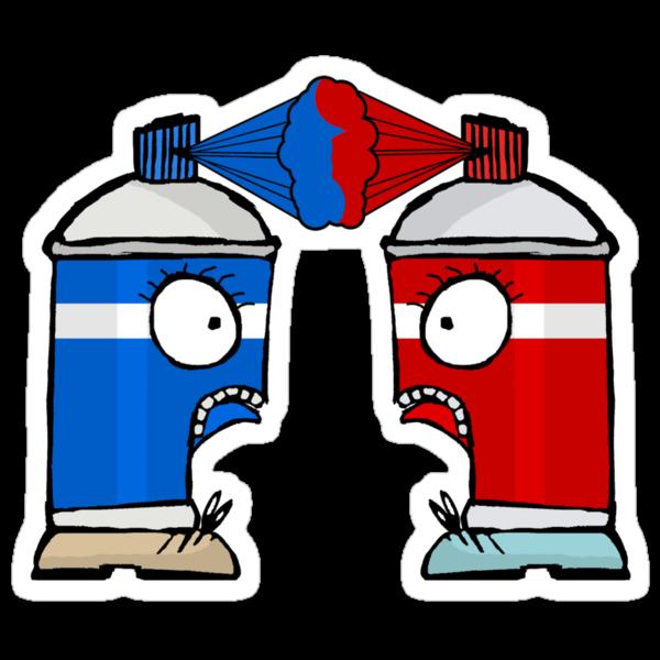 Spraycan War by MuscularTeeth