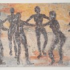 Tribal dancers and lonely boy by roza50