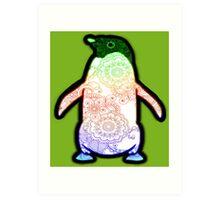 Penguin - Henna Rainbow Tattoo Art Print
