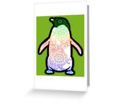 Penguin - Henna Rainbow Tattoo Greeting Card