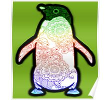 Penguin - Henna Rainbow Tattoo Poster