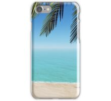 palms on the beach iPhone Case/Skin