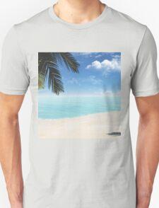 palm on the beach Unisex T-Shirt
