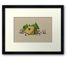 no camping Framed Print