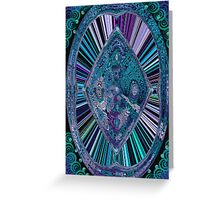 Signature Blues in abstract Greeting Card