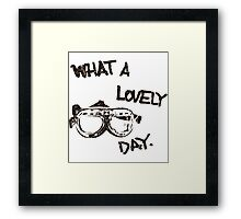 What a lovely day - black Framed Print