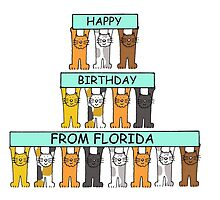 Cats Happy Birthday from Florida. by KateTaylor