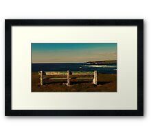 A Seat with a View  Framed Print