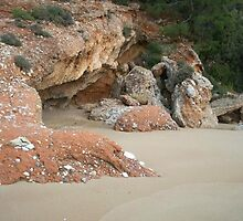 Red Rocks, Psili Ammos, Samos by JANET SUMMERS