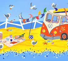 Campervan Summer Picnic by lilybatteson