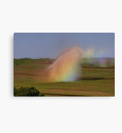 irrigation rainbows  Canvas Print