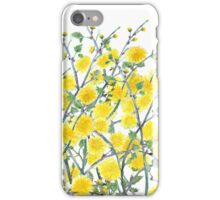 Cute vintage yellow green floral painting pattern  iPhone Case/Skin