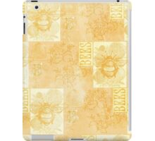 Bees and Blooms VII:  Watercolor illustrated bee and flower print iPad Case/Skin