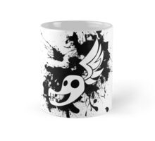 Shadowbolt skull wing splat (no text, black splats) Mug