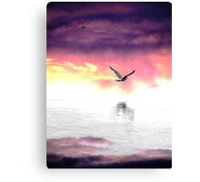 Smoke on the water... Canvas Print