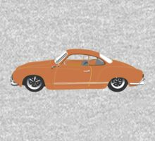 Orange Karmann Ghia Kids Clothes