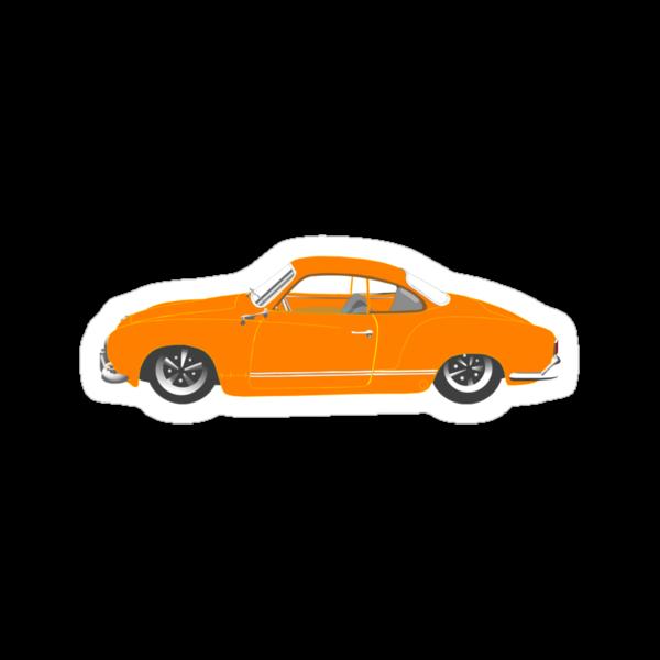 Orange Karmann Ghia by MangaKid
