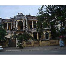 Decrepit Mansion in Phnom Penh - Remnants of Former Glory Photographic Print