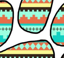 Tribal Paw Print Sticker