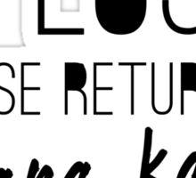 Return to Stana Katic Sticker