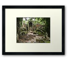 Channeling all Tomb Raiders - Angkor Wat Framed Print