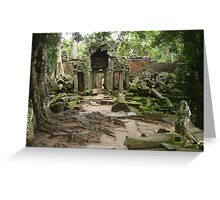 Channeling all Tomb Raiders - Angkor Wat Greeting Card