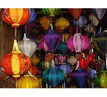 Kaleidoscope of Lanterns in Hoi Ann Vietnam Photographic Print