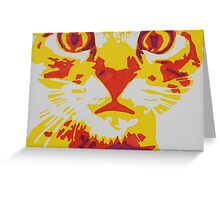 Wide Eyed Pussy Cat Greeting Card