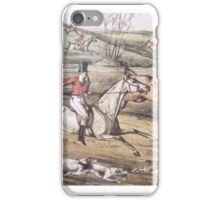 Old Hunting Scene - English Countryside iPhone Case/Skin
