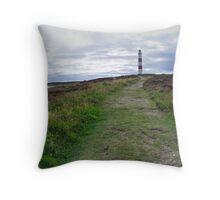 Tarbat Ness Lighthouse Throw Pillow