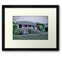 Brown's Farm House Framed Print