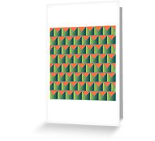 Fake 3D triangles Greeting Card
