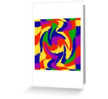 Primary Color Abstract Greeting Card