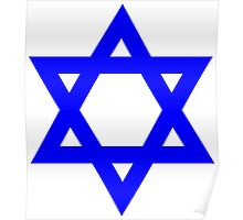 Star of David, blue and thick Poster