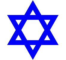 Star of David, blue and thick Photographic Print