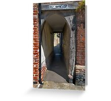 Holy Ghost Alley Greeting Card